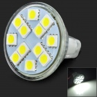 JRLED G4 3W 200lm 6500K 12-5050 SMD LED White Spotlight - Silver (12V)
