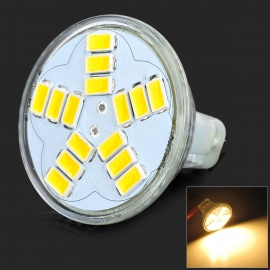 JRLED G4 4W 260lm 3300K 15-5630 SMD Warm White Spotlight - Silver (12V)