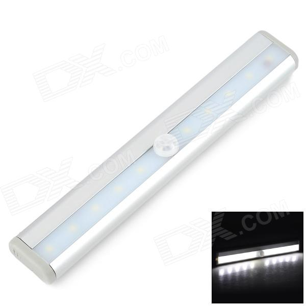 TDL-7120 5W 200lm 10-LED Warm White IR Sensing Light - White (6V) - DXWall Lights<br>Light at night when there is people; Energy-saving; Powered by 4 x AAA batteries not included; Widely used in home hotel and recreational places etc.<br>