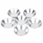 Handy Aluminum Alloy Baking Mould for Egg Tart / Jello / Muffin - Silver (6 PCS)