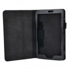 Lychee Pattern Protective PU Leather Case w/ Stand for Lenovo Miix2 8 - Black
