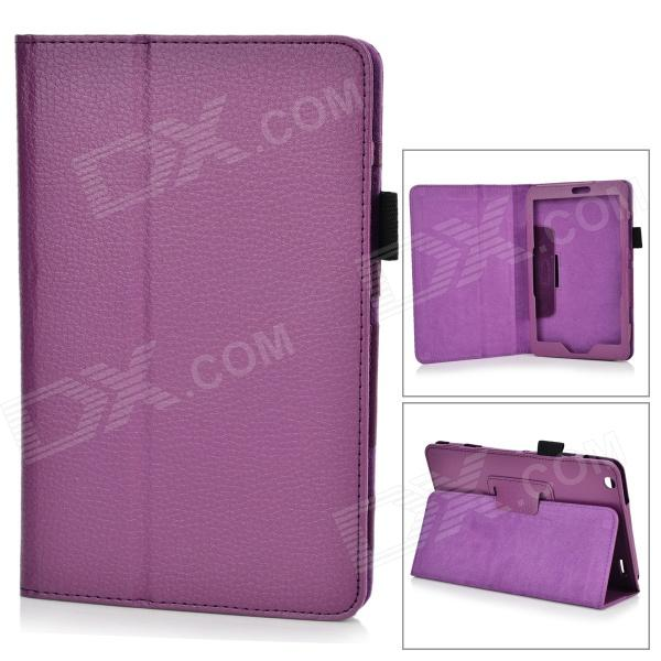 Lychee Pattern Protective PU Leather Case w/ Stand for Lenovo Miix2 8 - Purple