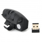 Geyes GM306 USB 2.0 2.4GHz Wireless Optical LED Finger Mouse - Black