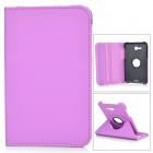 IKKI 360 Degree Rotation Flip-open PU Leather Case for Samsung Galaxy Tab 3 Lite T110 - Purple