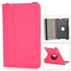 Protective 360 Degree Rotation Flip-open Denim Case for LG G Pad 8.3 - Dark Pink