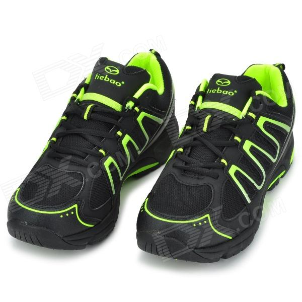 TIEBAO TIEBAO-B1285 Recreational Cycling Shoes - Black + Green (Size 43)