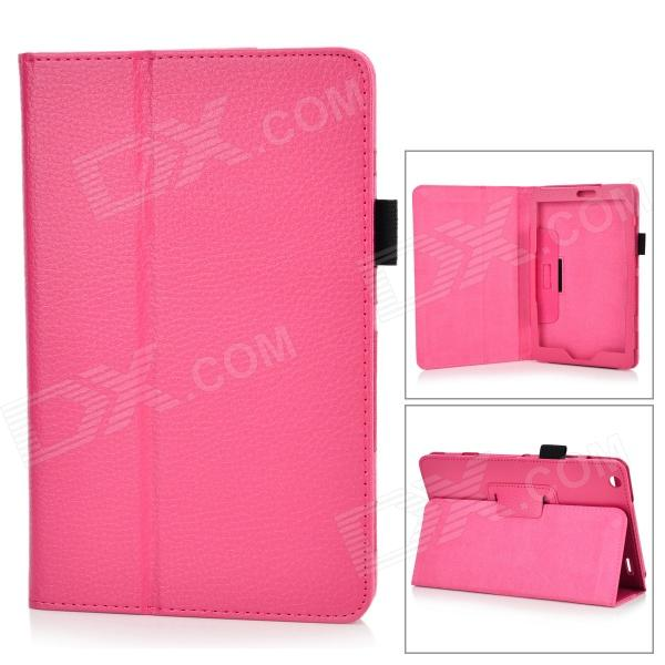 Lichee Pattern Protective PU Leather Flip-open Case w/ Stand for Lenovo Miix2 8 - Dark Pink потолочная люстра odeon light crea color 2598 6c