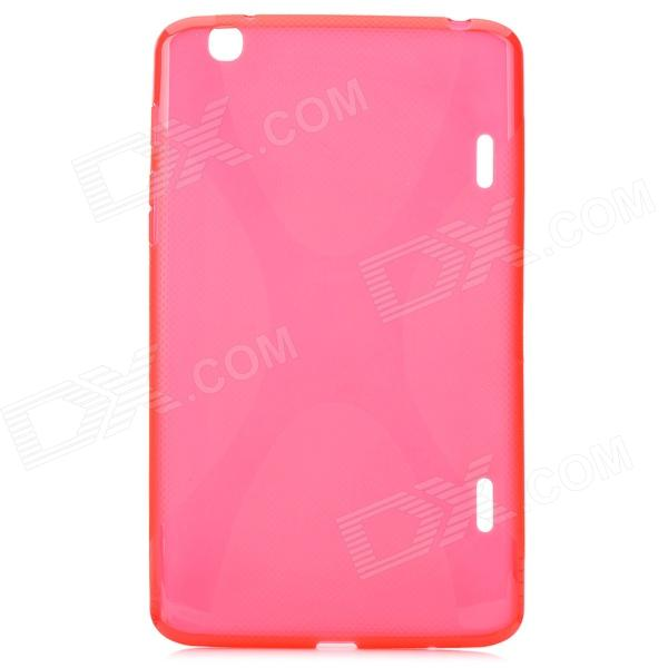 YI-YI Protective TPU Back Case w/ Screen Protector for LG G Pad / V500 - Red