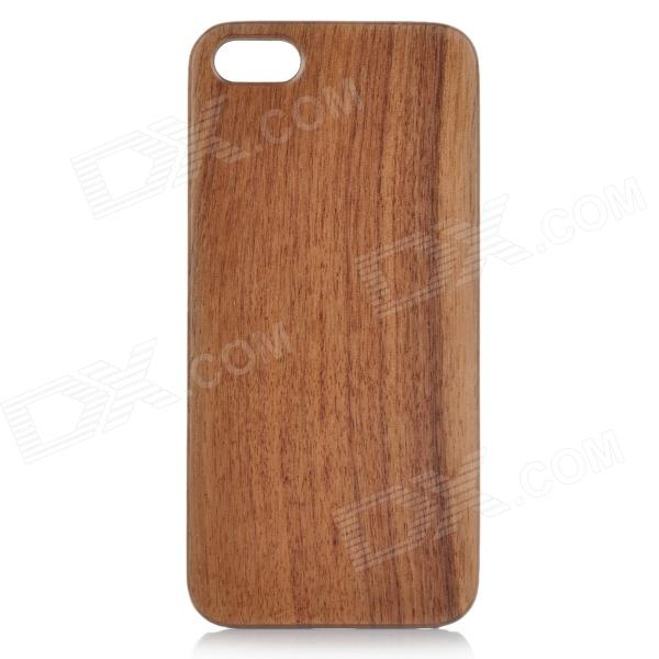 Goodlen Retro Protective Walnut Wood Wooden Back Case for IPHONE 5 / 5S - Brown + Black