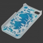 RONE EP-PC13 Stylish Coral Liquid Effect Back Case for IPHONE 4 / 4S - Blue + Fluorescent Green