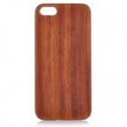 Goodlen Retro Protective Rosewood Wooden Back Case for IPHONE 5 / 5S - Brown + White
