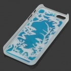 RONE EP-PC14 Stylish Coral Liquid Effect Back Case for IPHONE 5 / 5S - Blue + Fluorescent Green