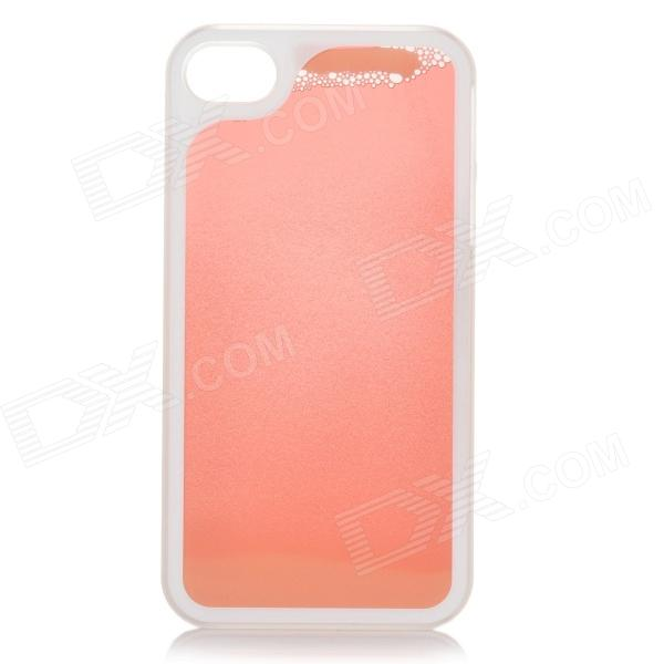 RONE EP-PC11 Stylish Liquid Effect Back Case for IPHONE 4 / 4S - Red + Yellow