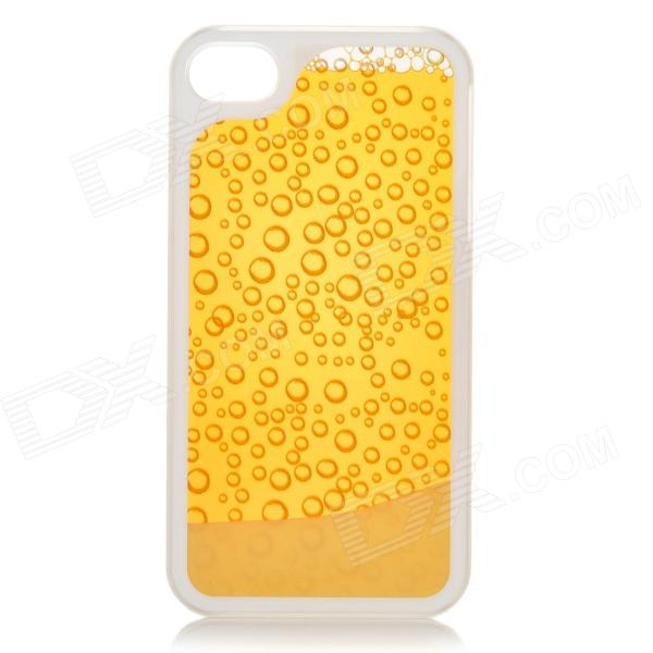 RONE EP-PC15 Stylish Droplet Liquid Effect Back Case for IPHONE 4 / 4S - Yellow + Golden спот точечный светильник arte lamp venerd a6009pl 6ab