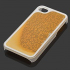 RONE EP-PC15 Stylish Droplet Liquid Effect Back Case for IPHONE 4 / 4S - Yellow + Golden