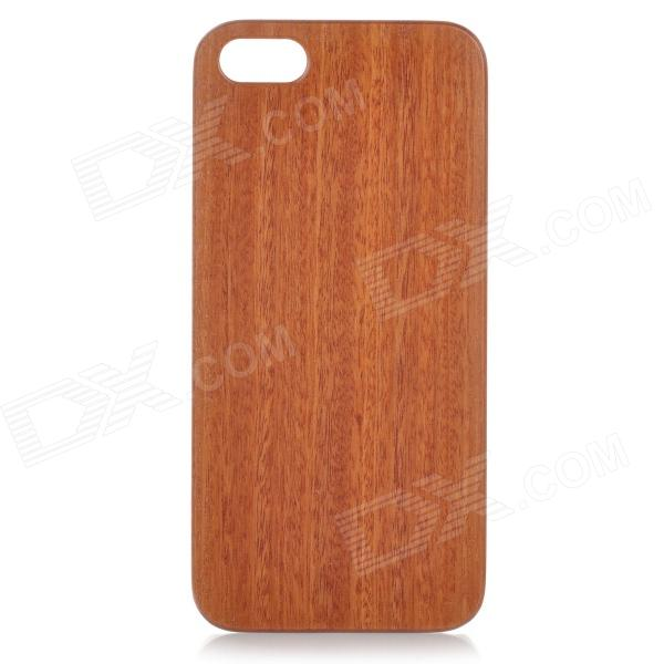 Goodlen Retro Protective Red Cabrevua Wooden Back Case for IPHONE 5 / 5S - Brown + White