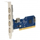 DIEWU 480Mbps PCI to USB 2.0 5-Port Expansion Card - Deep Grey + Silver White