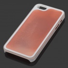 RONE EP-PC12 Creative Protective PC + Liquid Back Case for IPHONE 5 / 5S - Red + Yellow
