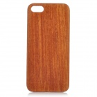 Goodlen Retro Protective Red Cabrevua Wooden Back Case for IPHONE 5 / 5S - Brown + Black