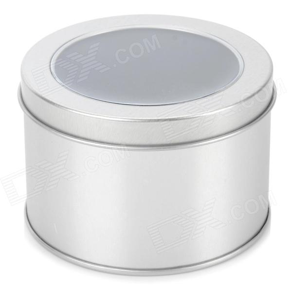 Round Shaped Iron Packing Box w/ Sponge - Silver