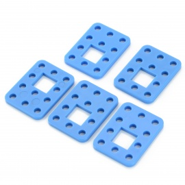 ZJ-5 DIY ABS + PC Fixing / Connecting Plates for R/C Model Car + More - Blue (5 PCS)