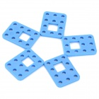 ZJ-5 ABS + PC DIY Fixação / Ligar Placas por R / C Model Car + More - Azul (5 PCS)
