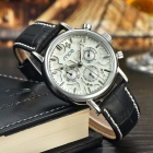 mce 01-0060222 Stainless Steel Self-Winding Mechanical Analog Wrist Watch - Silver + Pearl White