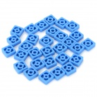 F3-14 DIY Plastic Square Gear Accessories for R/C Model Car / Ship + More - Dark Blue (30 PCS)