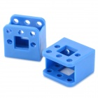 ZJ-2 DIY ABS + PC Concave Fixing Base Parts for R/C Model Car + More - Blue (2 PCS)