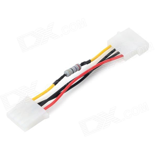 JiaHui D-type 4-Pin Fan Deceleration Cable - White + Red + Multi-Colored