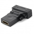 YaoSheng HDMI Female to DVI 24+1 Male Rotary Adapter - Black