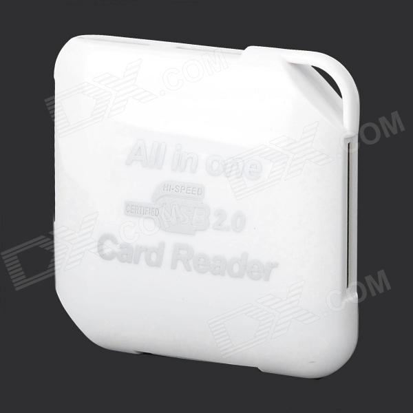 HJL-883 5-in-1 SD / MicroSD (TF) / TF / MS / M2 Card Reader for Samsung Galaxy S3 / S4 - White