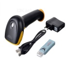 JD-2014 2.4G Wireless Handheld USB 2.0 Laser Barcode Scanner - Black + Yellow