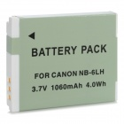 Replacement 3.7V 1060mAh Battery for Canon NB-6LH - Grey