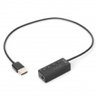 USB 2.0 96k/24bit 3.5mm DAC Sound Card Adapter w/ Built-in Microphone - Black