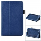 Lychee Pattern Protective PU Case w/ Stand for Lenovo Miix2 8 - Dark Blue