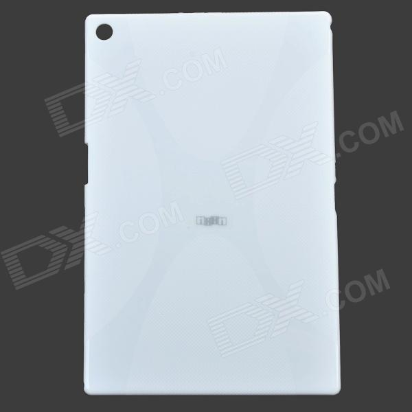 IKKI X Pattern Protective TPU Case for Sony Xperia Z2 Tablet P511 / P512 - Milky White ikki x pattern protective tpu case for sony xperia z2 tablet p511 p512 translucent blue