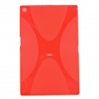 IKKI X Pattern Protective TPU Case for Sony Xperia Z2 Tablet P511 / P512 - Translucent Red