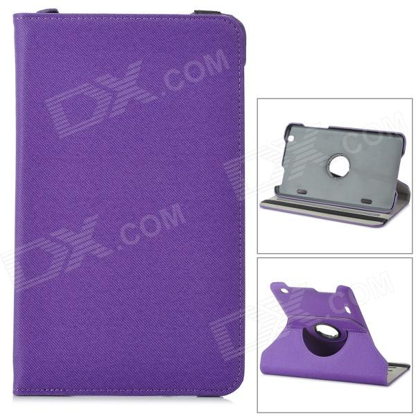 Protective 360 Degree Rotary Flip-open Denim Case w/ Stand for 8.3 LG G Pad - Dark Purple