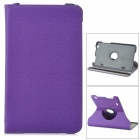 "Protective 360 Degree Rotary Flip-open Denim Case w/ Stand for 8.3"" LG G Pad - Dark Purple"
