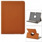 Twill Pattern Rotary PU Case w/ Stand + Screen Protector for Samsung Galaxy Tab Pro 10.1 - Brown