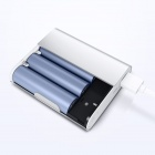 XIAOMI Genuine 10400mAh USB Mobile Power Source Bank w/ 4-LED Indicators - Silver + White