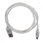 Universal USB 2.0 Male to Micro USB Male Data Sync / Charging Cable for Phone - White (100cm)