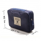 Nylon multifunzionale viaggiare lavare Storage Bag - Black
