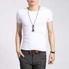 Men's Slim Short Sleeve T-shirt - White (Size XL)