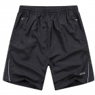 Casual Men's Beach Pants Sports Shorts - Black (Size-XL)
