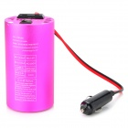 200W DC 12V a AC 220V Car Power Inverter w / 5V 0.5A Salida - de color rosa oscuro ( 27cm )