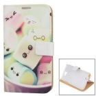 Buy Kinston Cartoon Marshmallow PU Leather + Plastic Case Cover Samsung Galaxy Note 2 N7100 - White