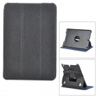 Protective PU Leather + PC Flip Open Case w/ Stand for IPAD Mini / IPAD Mini 2 - Black
