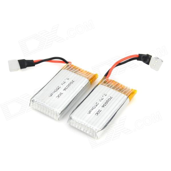WLtoys V966 3.7V 250mAh Batteries for V988 R/C Helicopter - Silver